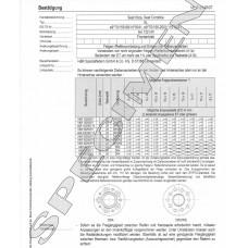 DTC Zertifikat - H&R Spurverbreitungen